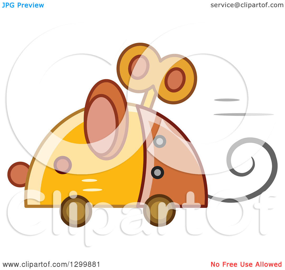 Clipart of a Steampunk Robotic Mouse.