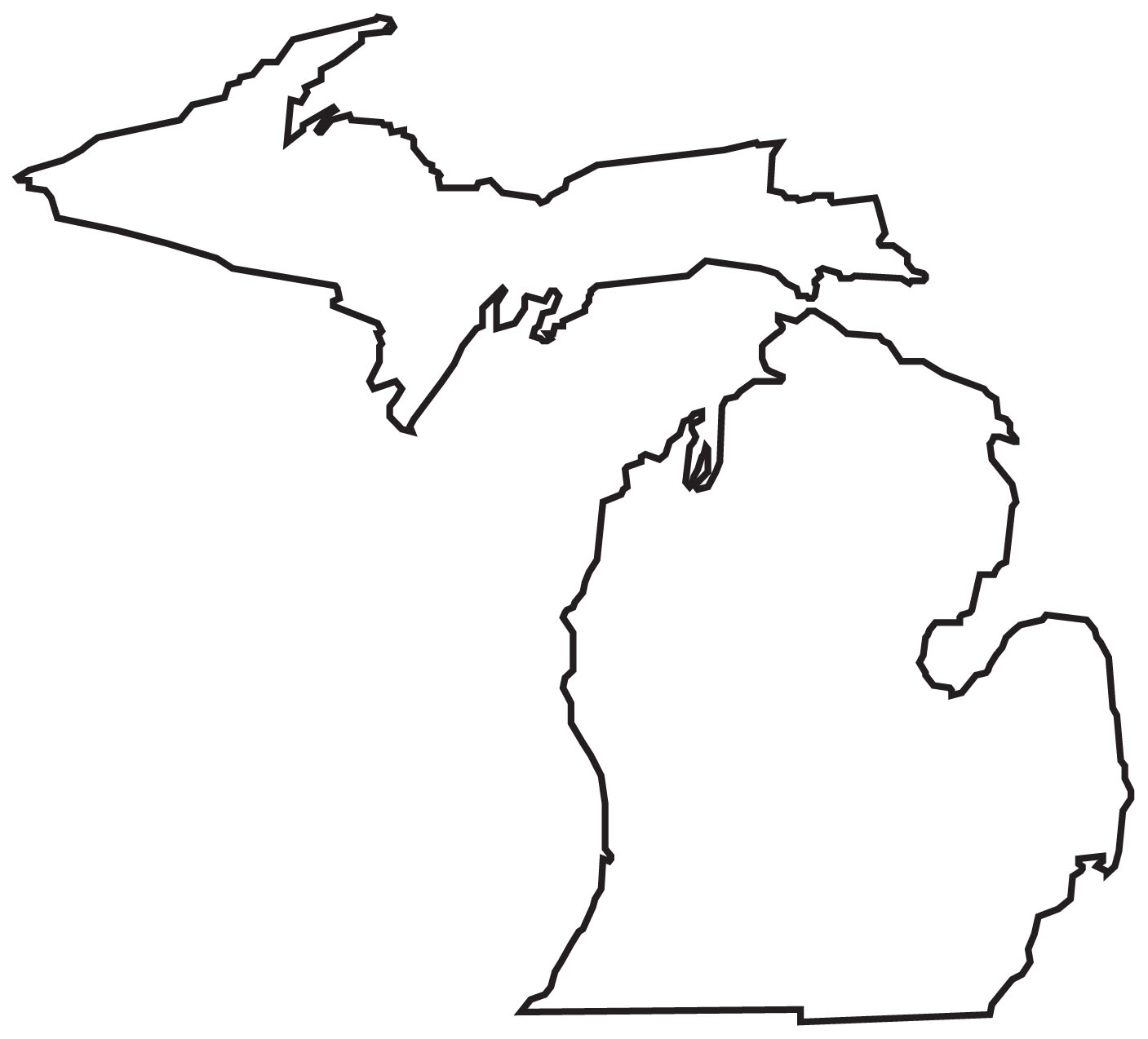 Michigan State Outline.