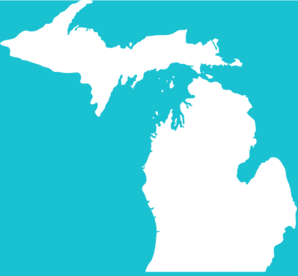 White Michigan On Teal Clip Art at Clker.com.