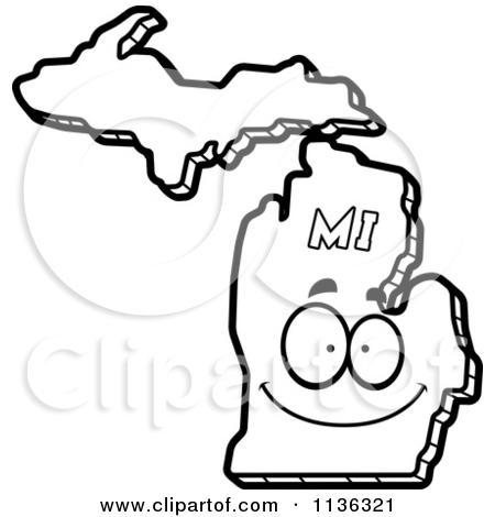 Michigan state clipart.