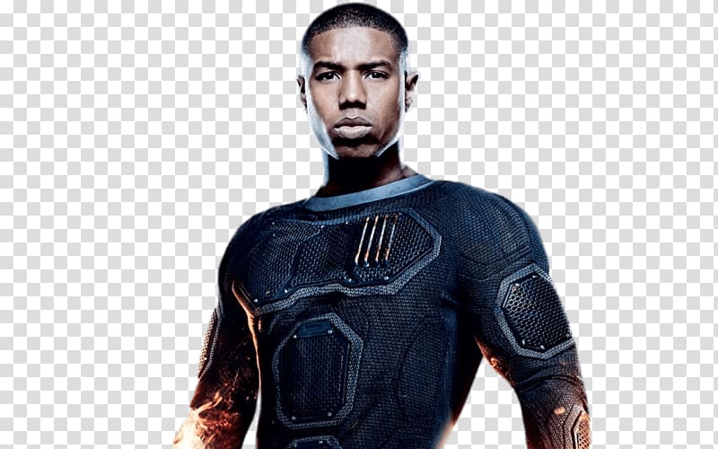 Man wearing black top illustration, Michael B. Jordan Black.