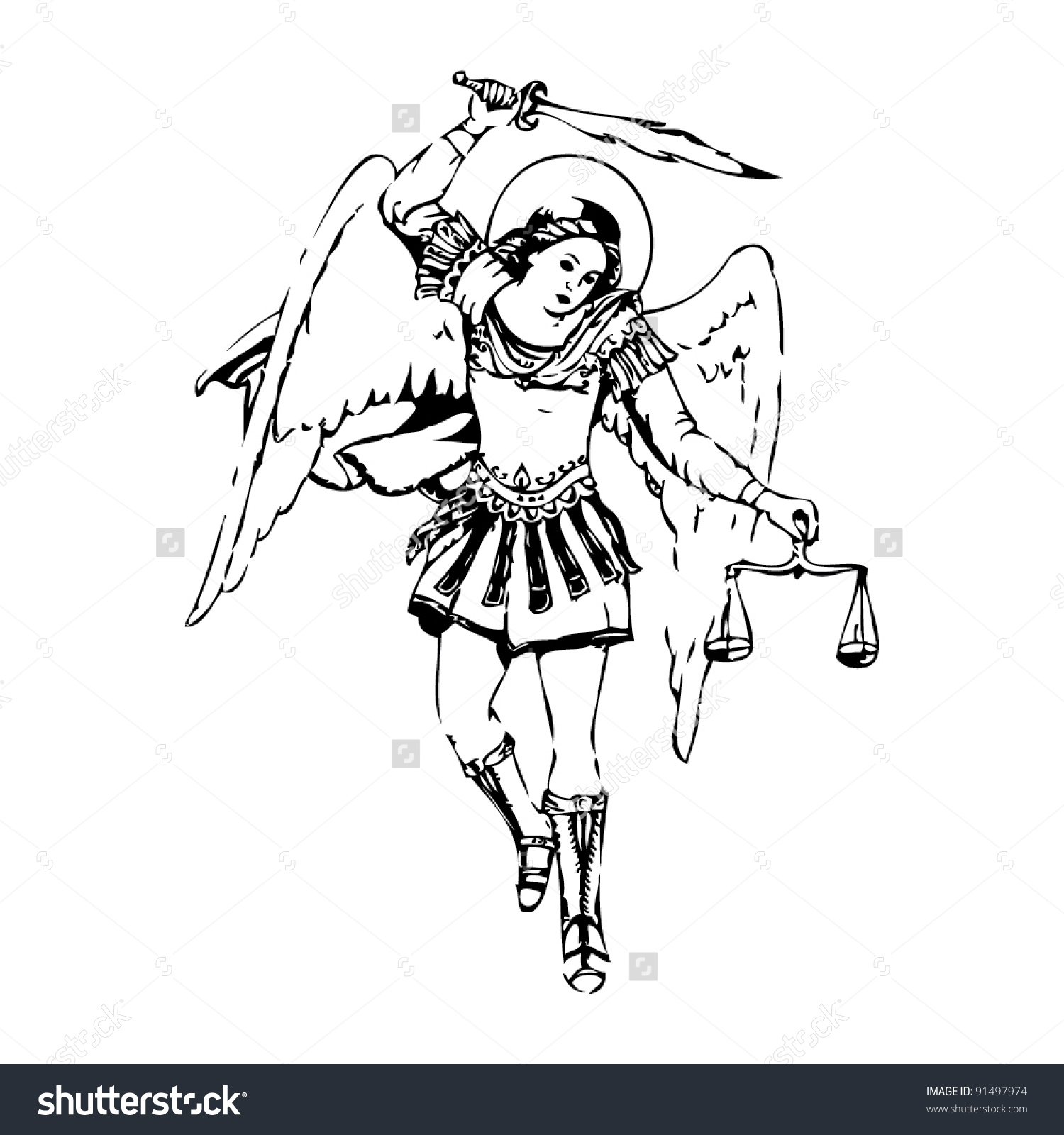 Archangel Michael Clipart.
