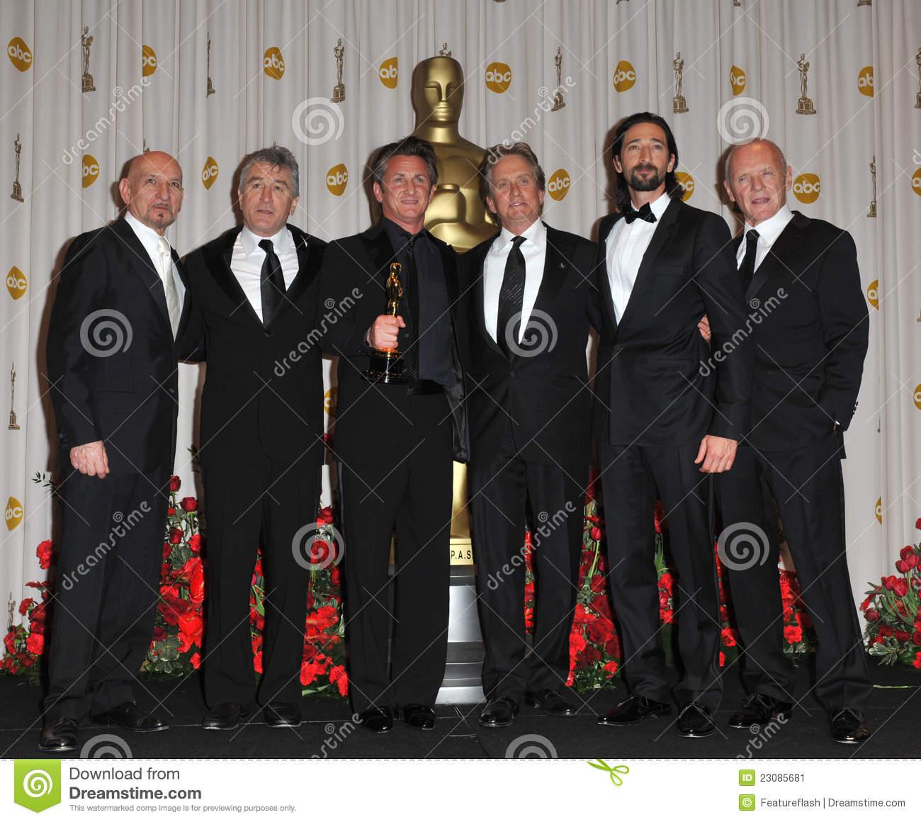 Ben Kingsley, Anthony Hopkins, Adrien Brody, Michael Douglas.