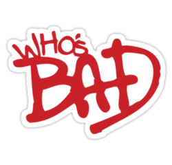 Bad michael jackson Logos.