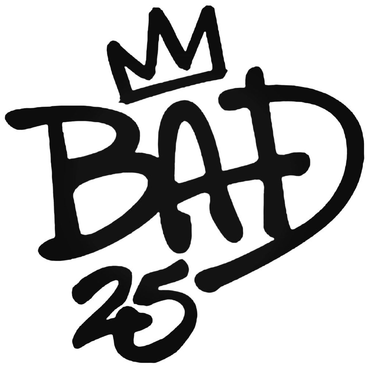 S Michael Jackson Bad Th Band Decal Sticker.