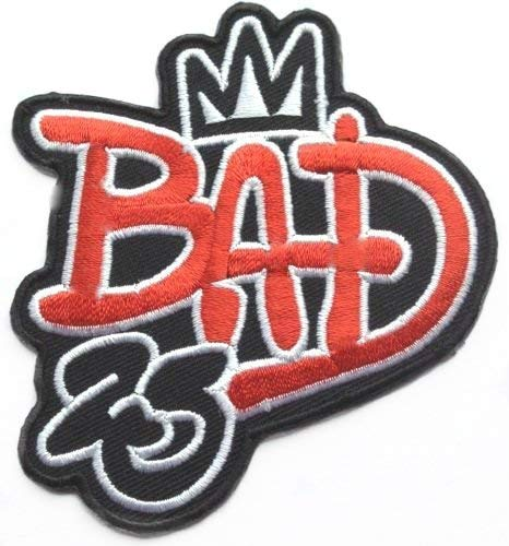 Michael Jackson Bad 25th Anniversary Patch Embroidered Iron on Badge  Applique Costume Cosplay King of Pop Tribute MJ Souvenir.