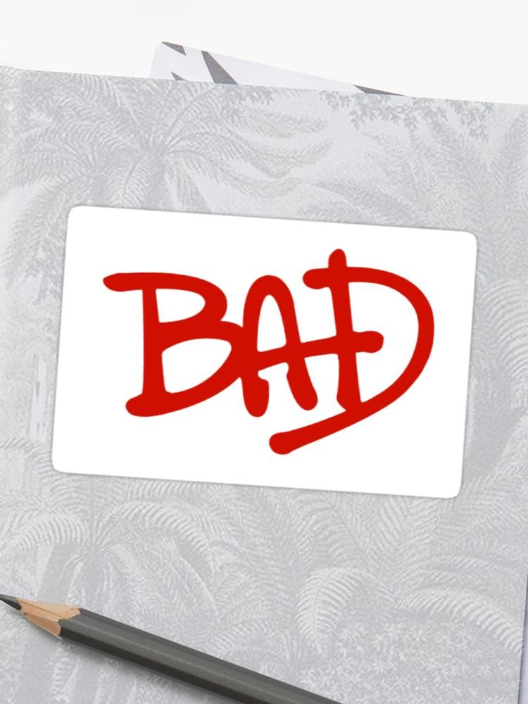 \'Bad Logo Michael Jackson Sticker\' Sticker by Anna Huff.