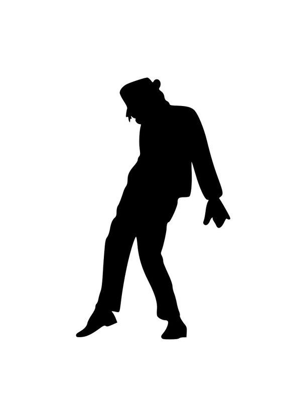 Michael Jackson SVG Cut File for Silhouette and Cricut.