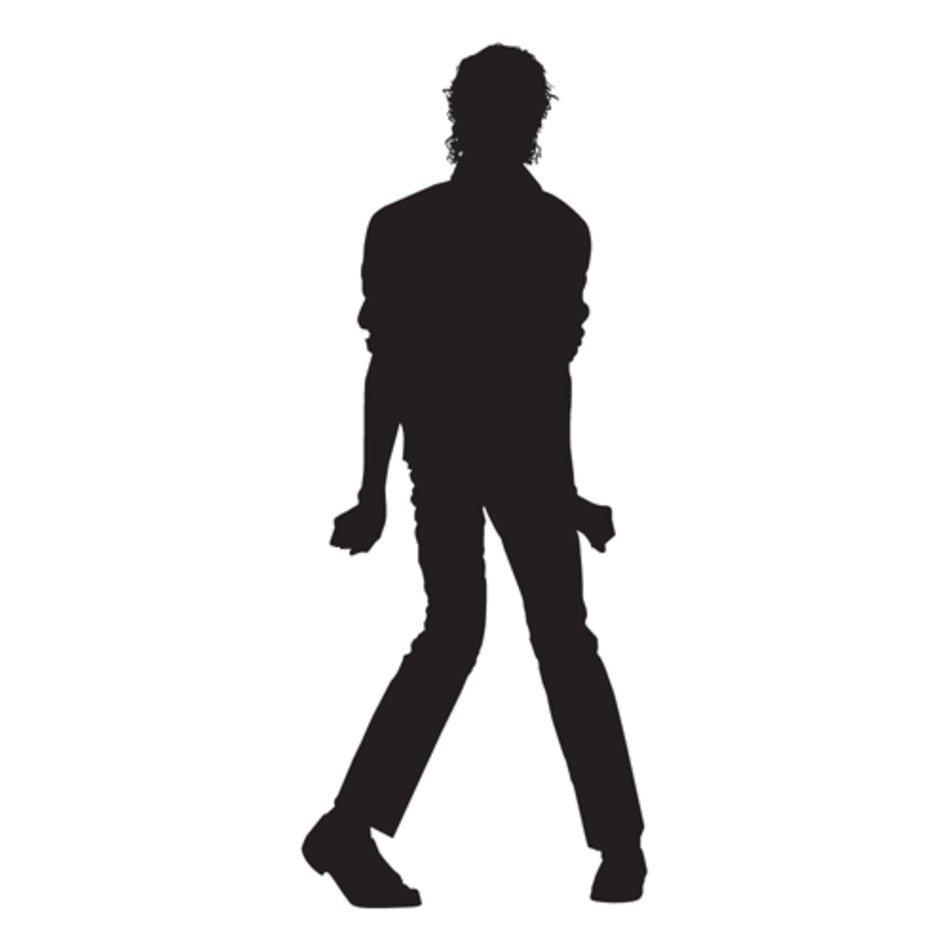 Michael Jackson Silhouette Clip Art free image.