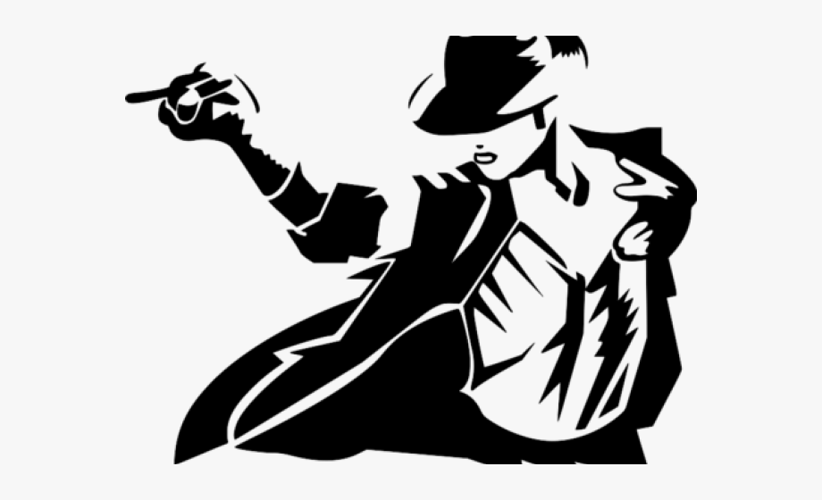 Michael Jackson Clipart Black And White.