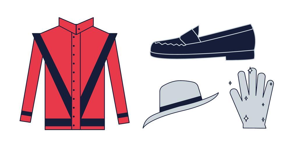 Free Michael Jackson items vector.