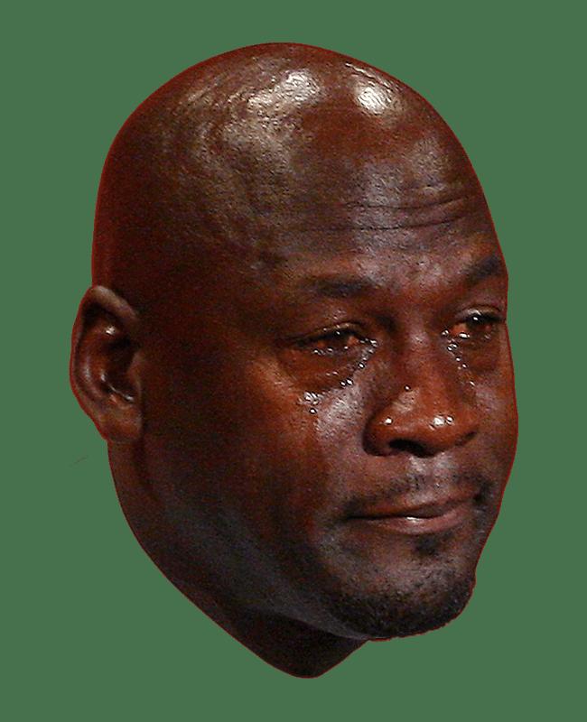Michael Jordan Crying Face transparent PNG.