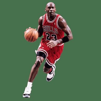 Michael Jordan Running transparent PNG.