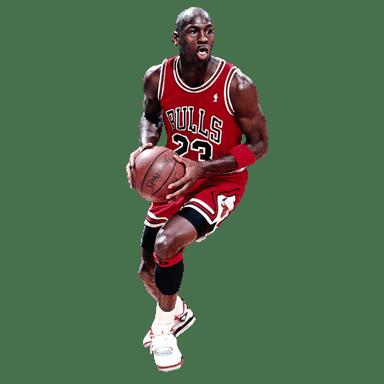 Michael Jordan Dribbling transparent PNG.