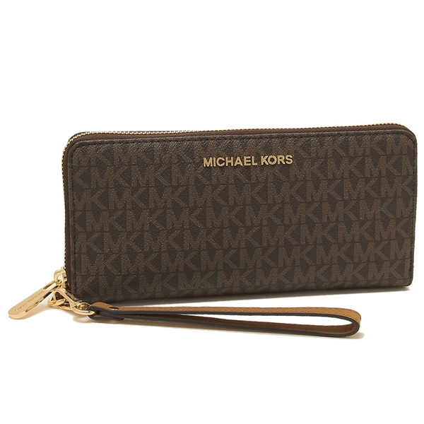 Michael Kors long wallet outlet Lady\'s MICHAEL KORS 35F8GTVT3B BRN/ACORN  brown.