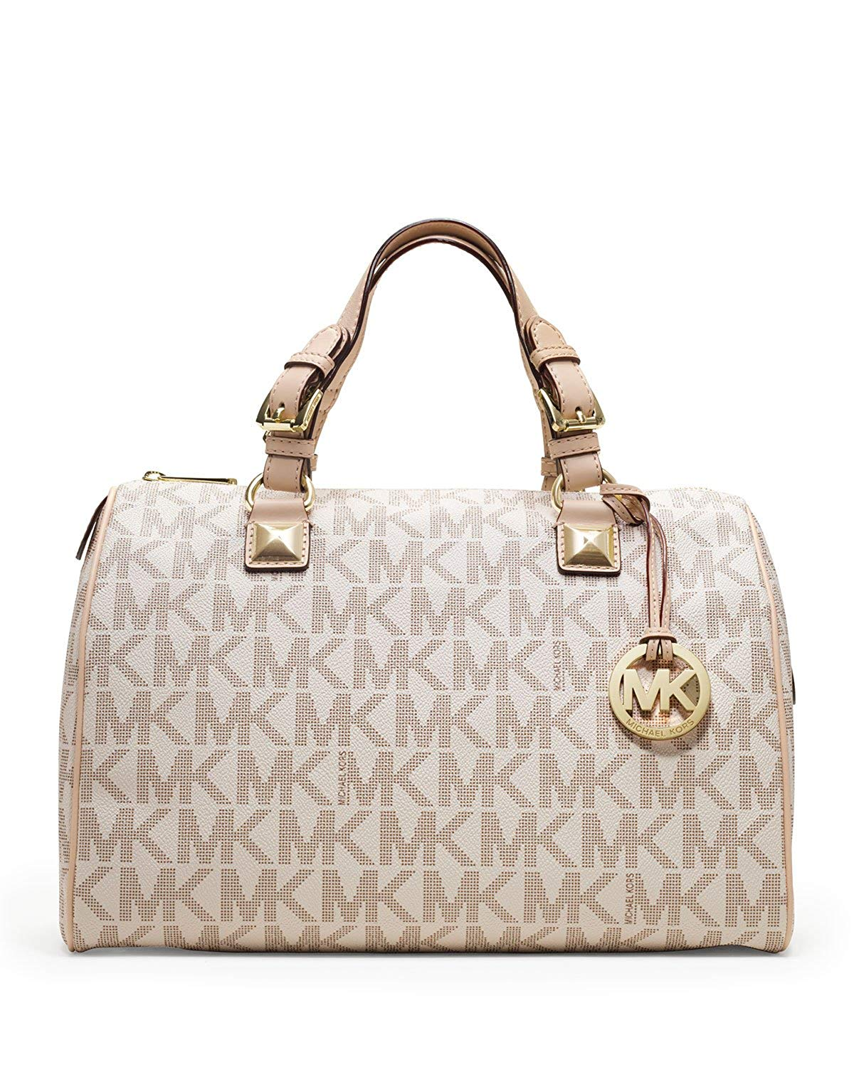 Amazon.com: Michael Kors Womens Grayson Large Logo Satchel.