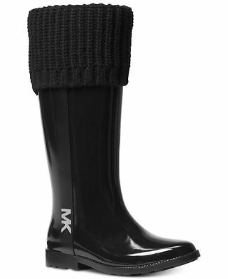 MICHAEL KORS ICONIC MANDY Logo Tall Fully Lined RAIN BOOTS.