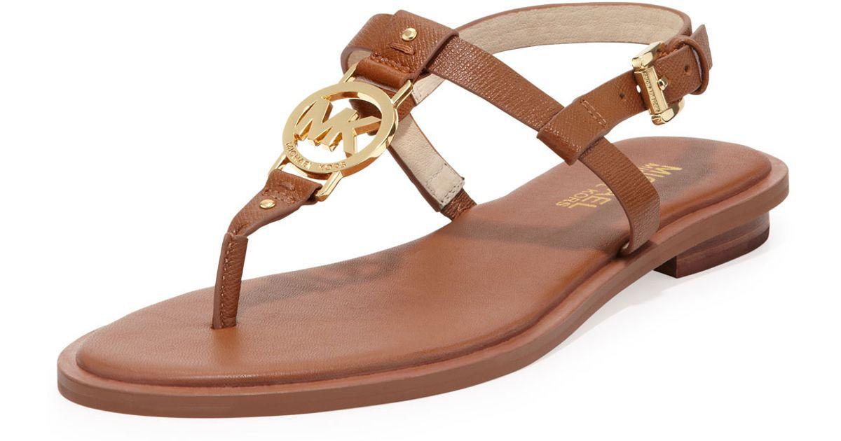 MICHAEL Michael Kors Brown Sondra Logo Sandal.