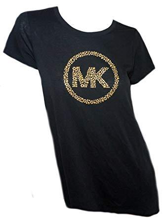 Amazon.com: Michael Kors Womens Black Short Sleeve T Shirt.
