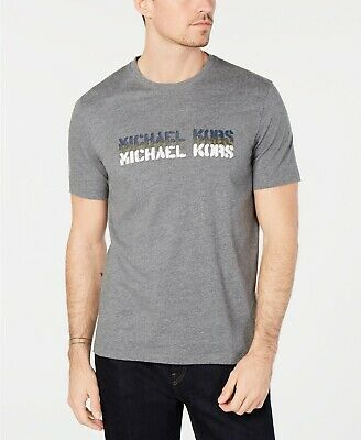 $295 Michael Kors Men\'S Gray White Graphic Crew.