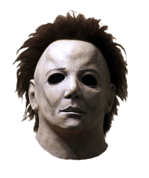Long Haired Michael Myers Mask (Halloween Movie) transparent.