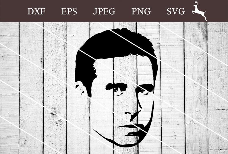Michael Scott The Office SVG, PNG, Clipart, Vector, Digital Download,  Design Print For Silhouette Cameo And Cricut Machine.