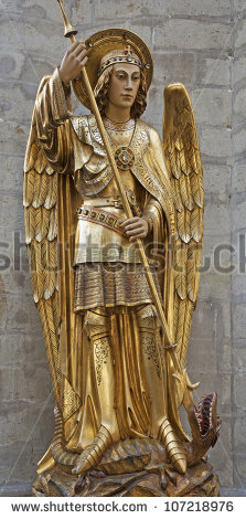 Archangel Michael Stock Images, Royalty.