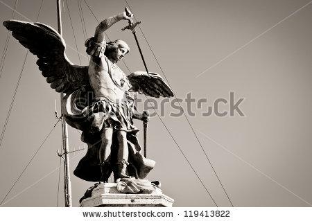 Saint Michael Statue Stock Images, Royalty.