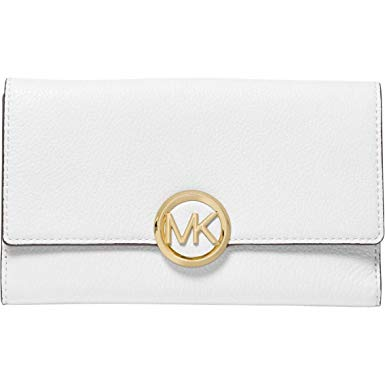 Michael Kors Logo Lillie Large Carryall Wallet Optic White.