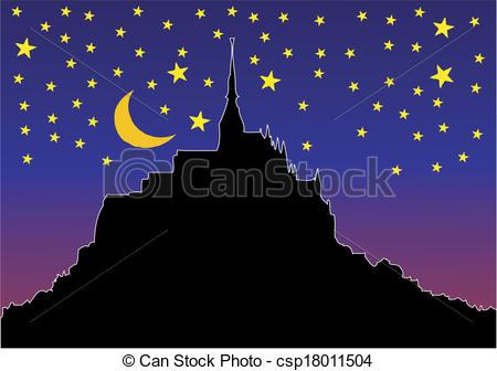 Mont saint michel Vector Clipart EPS Images. 17 Mont saint michel.