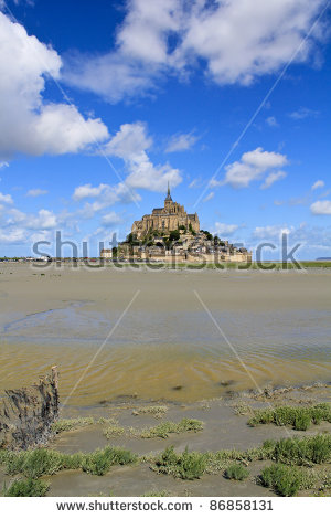 Mont Saint Michel Abbey Normandy Brittany Stock Photo 86858113.