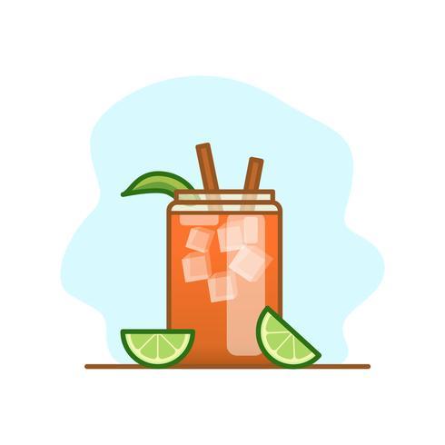 Michelada Cocktail Illustration.
