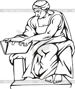 Cumae Sibyl; by Michelangelo.