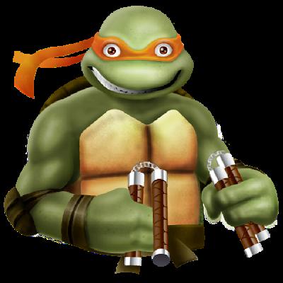 Ninja turtles clipart michelangelo.