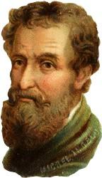 Antique Clipart: Michelangelo..