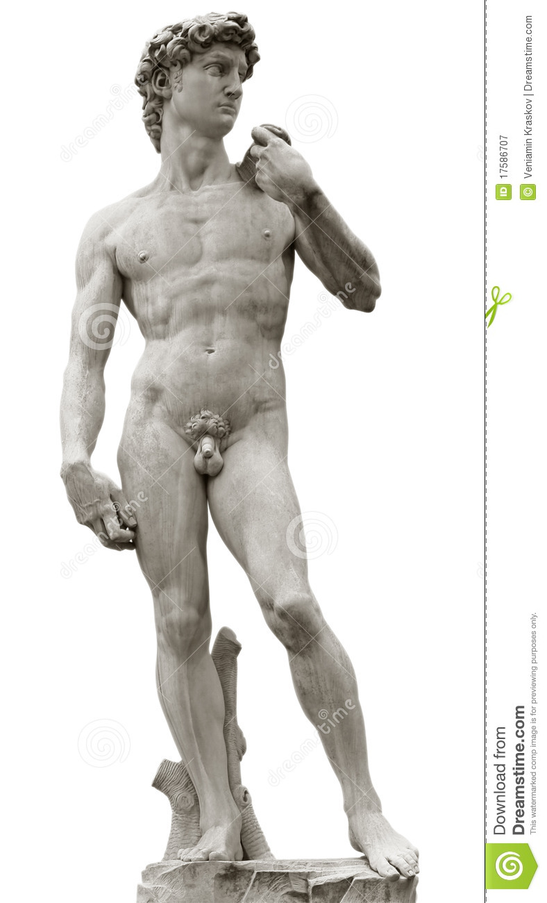 Michelangelo's David With Clipping Path Royalty Free Stock.