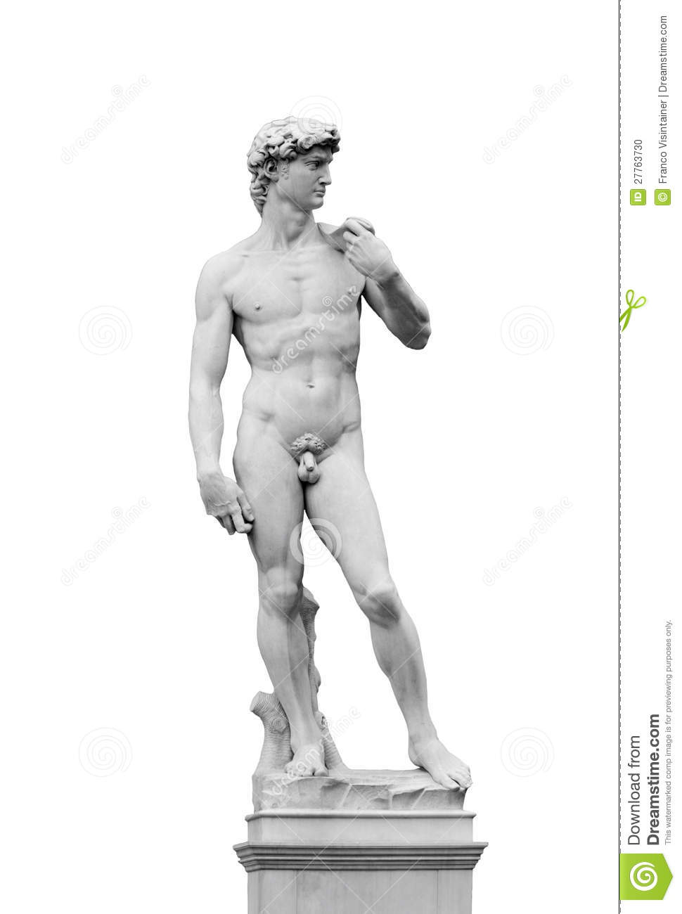 Michelangelo's David Stock Photo.