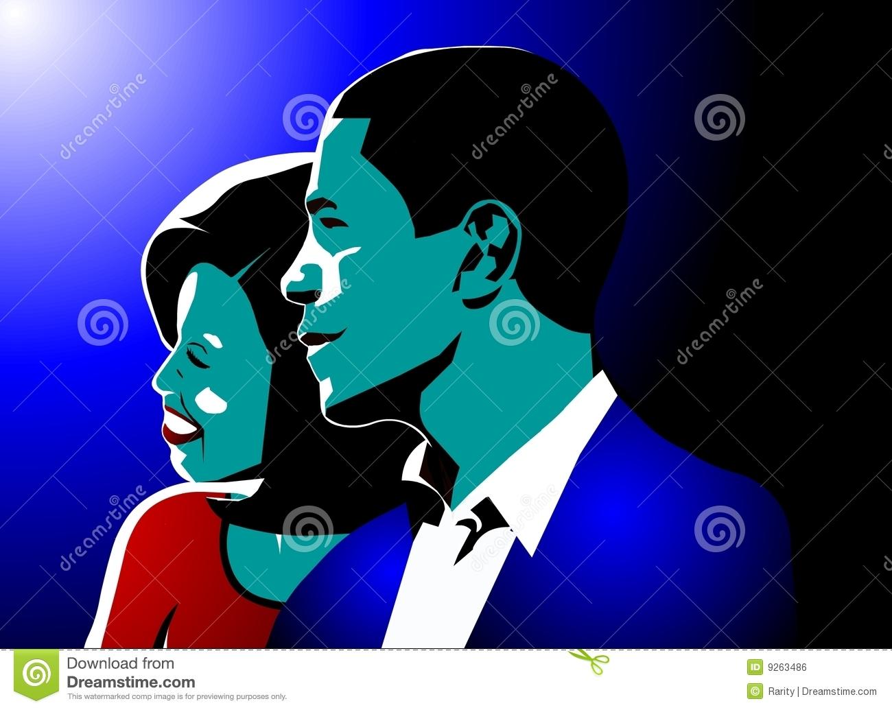 Michelle obama head clipart.