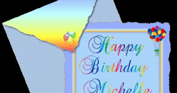 Happy birthday michelle clipart images.