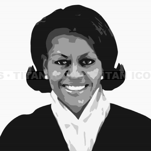 Michelle obama clipart.