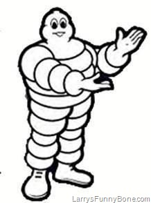 Ever wonder what the Michelin Man's Mom looked like? (NSFW.