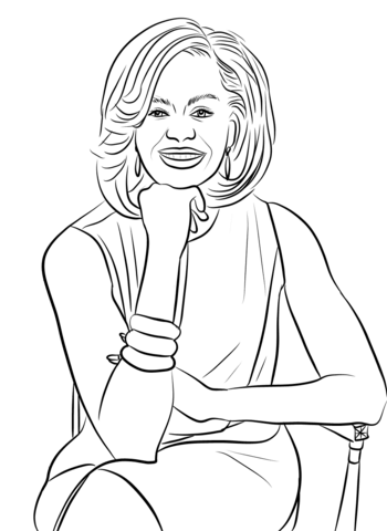 Michelle Obama coloring page.
