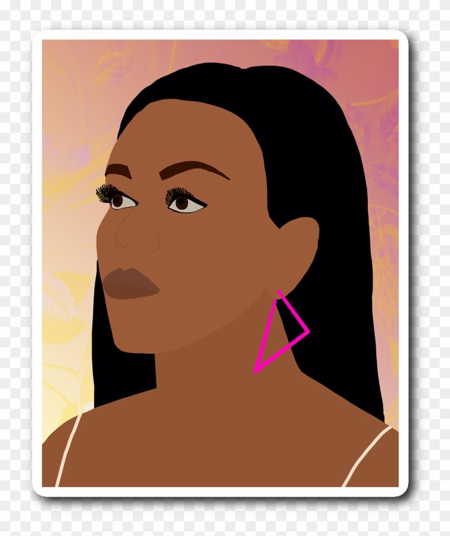 Michelle Obama Portrait Sticker.