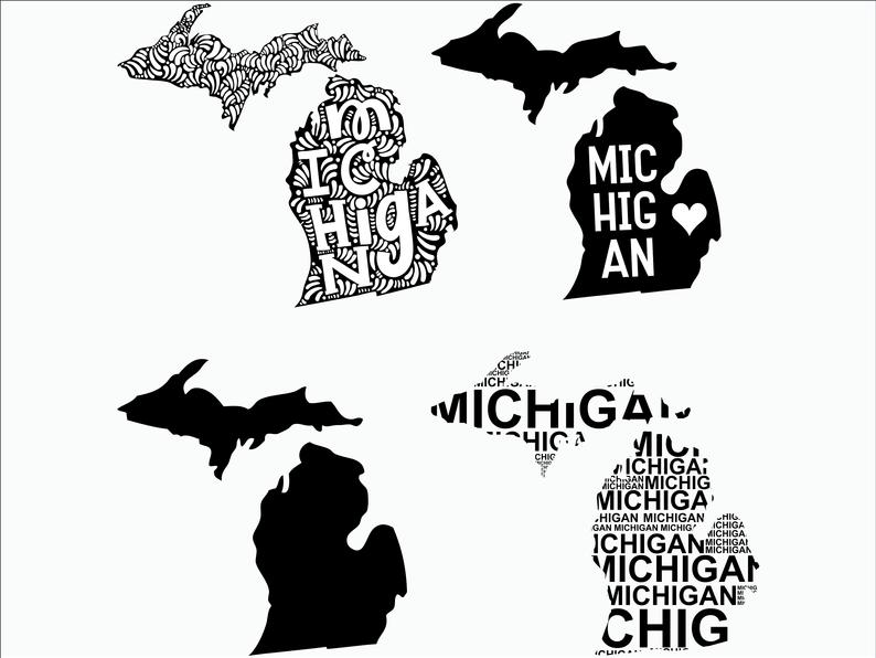Michigan SVG/ Michigan clipart/ Michigan state svg/ Cricut / printable /  silhouette / vinyl decal / vector files for cutting machines.