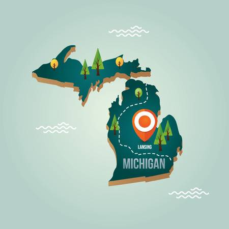 3,634 Michigan Cliparts, Stock Vector And Royalty Free.