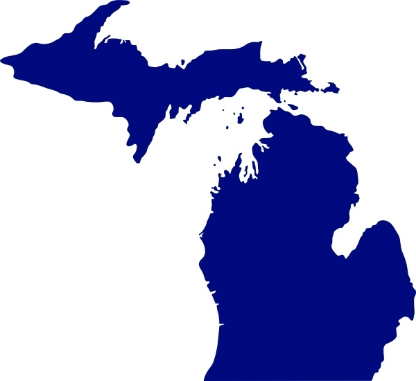 State Of Michigan clip art Free vector in Open office drawing svg.