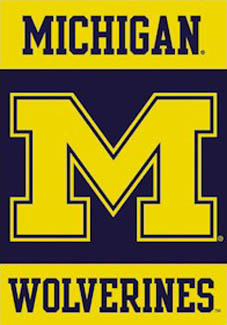 Michigan Wolverines BIG M Logo Banner Poster.