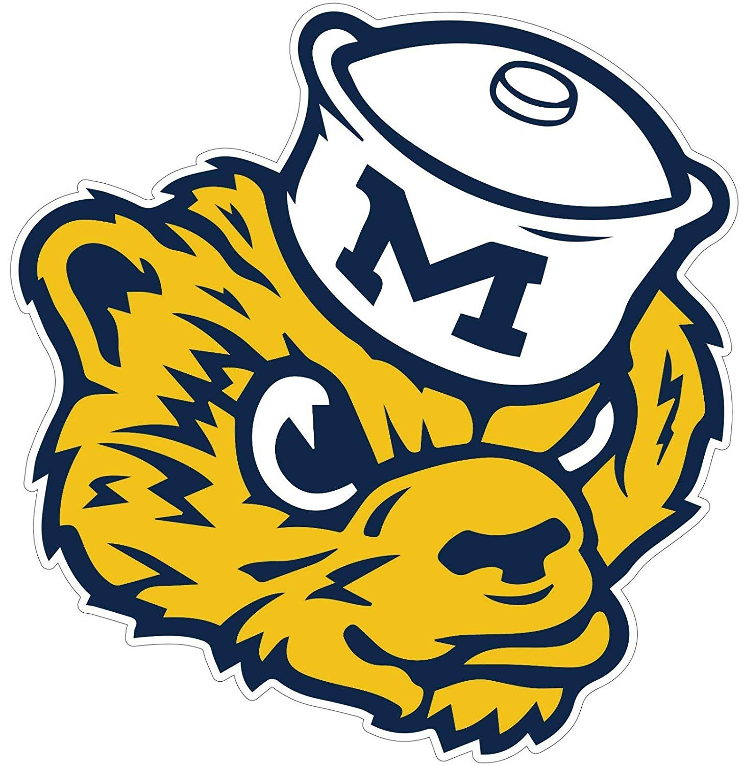 Michigan Wolverines Vinyl Stickers Logo //Any.