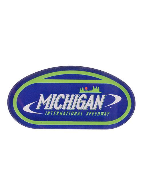 Michigan International Speedway Track Outline Acrylic Magnet.
