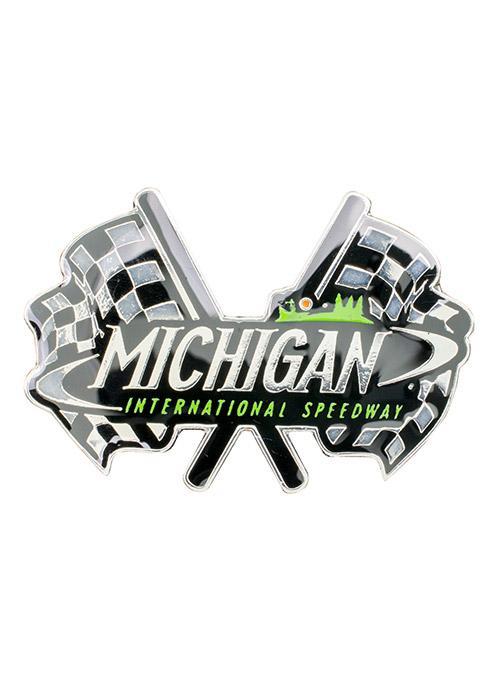 Michigan International Speedway Dual Flags Hatpin.
